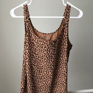 Motherhood Tank Top Leopard Print